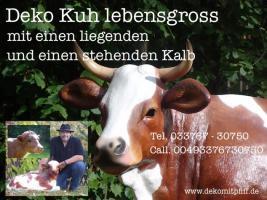 Österreicher aufgepasst … Deko Kuh mit zwei Deko kälbchen als Garten deko  und wir liefern ...