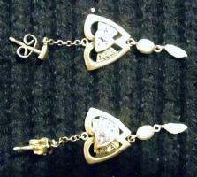 Foto 2 Ohranstecker Silber mit Perlen und Edelsteinen