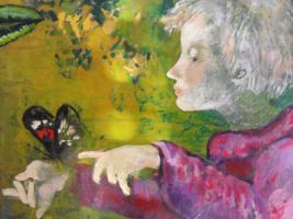 Oilgemalde auf holzplatte-Ungarisches Kunst