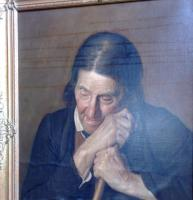 Oilportrait auf Linne, XIX. Jahrhundert