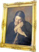 Foto 2 Oilportrait auf Linne, XIX. Jahrhundert