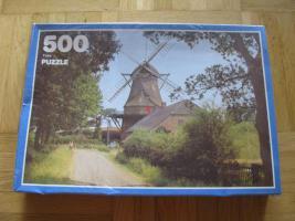 Original 500 Teile PUZZLE, Windmühle