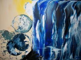 Foto 2 Original Armin Bosch abstrakte Kunst Mischtechnik Acryl/Öl auf Leinwand 100/70cm