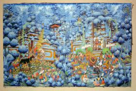 Original Balibild - Königliche Totenzeremonie auf Bali