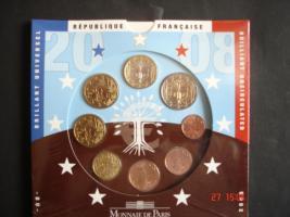Original-Euro-Kursmünzensatz Frankreich 2008
