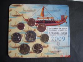 Original-Euro Kursmünzensatz Griechenland 2009  2 Euro Stier