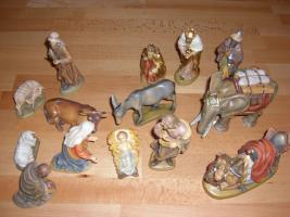 Original LEPI Krippenfiguren aus Holz. Top Zustand