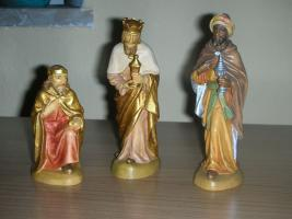 Foto 3 Original LEPI Krippenfiguren aus Holz. Top Zustand