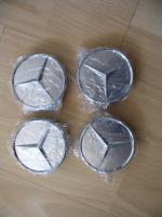 Foto 4 Original Mercedes-Benz Nabendeckel mit Chromstern  - neu - 1 Satz = 4 Stück