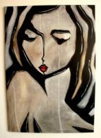Original Portrait Moderne zeitgenössische Pop Art Handmade