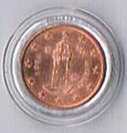 Original San Marino Kursmünze 1 Euro Cent '' 2004 '' !
