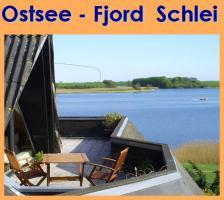 Ostsee Schlei Wasser-Blick Urlaub mit Hund - helle Ferienwohnung Ferienhaus ~ Urlaub ~Unterkunft ~ Last Minute frei