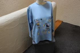 #Oversize-Strickshirt m. Stick u. Appl., Gr. 152, #hellblau, #NEU, #Ding Dong