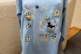 Foto 2 #Oversize-Strickshirt m. Stick u. Appl., Gr. 152, #hellblau, #NEU, #Ding Dong