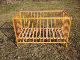 Foto 2 PANDA Kinderbett Gitterbett mit neuwertiger Matraze ca 120 x 60cm