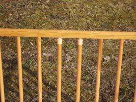 Foto 4 PANDA Kinderbett Gitterbett mit neuwertiger Matraze ca 120 x 60cm