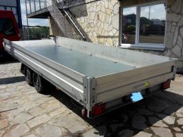 Pkw Anhänger Offener Kasten In Stabiler Bauweise 5m X 2 M