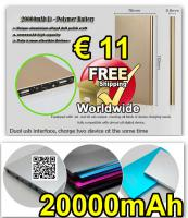 POWER BANK 20000mAh Dual USB LED Flashlight € 11 versandkostenfrei