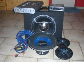 POWER PAKET fürs Auto: Radio-Endstufe-Boxen-Subwoofer usw. zu verk.