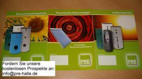 Foto 2 PRE Solarspeicher 200 Liter emailliert, 2 Wärmetauscher und mit Isolierung. Für Heizung, Heizkessel, Solar und Trinkwasser. prehalle