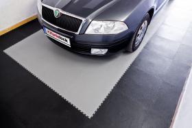 Foto 7 PVC Bodenbelag zur Selbstmontage in der Garage-Hobbyräume-Werkstätten