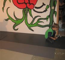 Foto 13 PVC Bodenbelag zur Selbstmontage in der Garage-Hobbyräume-Werkstätten