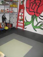 Foto 14 PVC Bodenbelag zur Selbstmontage in der Garage-Hobbyräume-Werkstätten