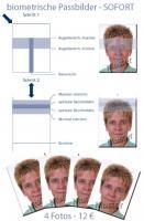 Passbilder SOFORT, auch biometrisch für Reisepass, Ausweis, Visa etc.
