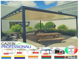 Foto 3 Pavillon Laube Schiebedach neu personalisierte Farben Zelt 6x5 Café Restaurant Stahl alle Farben fließende