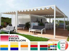 Foto 4 Pavillon Laube Schiebedach neu personalisierte Farben Zelt 6x5 Café Restaurant Stahl alle Farben fließende