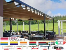 Pavillon Laube Schiebedach neu personalisierte Farben Zelt 7x5 Café Restaurant Stahl alle Farben fließende