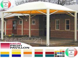 Foto 3 Pavillon Zelt Stahl personalisierte Farben neu professionell 7x7 Garden Café Hotel Restaurant