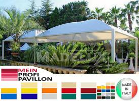 Foto 4 Pavillon Zelt Stahl personalisierte Farben neu professionell 7x7 Garden Café Hotel Restaurant