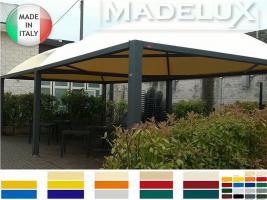 Foto 6 Pavillon Zelt Stahl personalisierte Farben neu professionell 7x7 Garden Café Hotel Restaurant