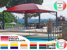 Foto 7 Pavillon Zelt Stahl personalisierte Farben neu professionell 7x7 Garden Café Hotel Restaurant