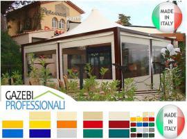 Foto 2 Pavillon Zelt Stahl personalisierte Farben professionell neu 4x4 Garden Café Hotel Restaurant