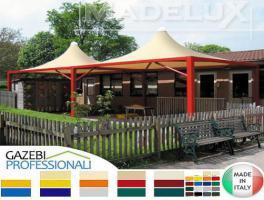Foto 3 Pavillon Zelt Stahl personalisierte Farben professionell neu 4x4 Garden Café Hotel Restaurant
