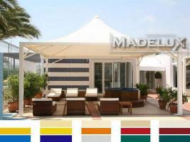 Foto 4 Pavillon Zelt Stahl personalisierte Farben professionell neu 4x4 Garden Café Hotel Restaurant