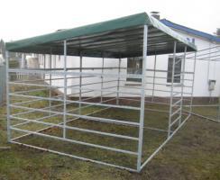Foto 2 Pferde Pultdach Panel-Unterstand 4/6m ab 799, -€