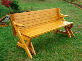 Picknick-Tisch und Gartenbank in einem