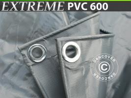 Plane 10x12m PVC 600g/m² Grau