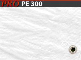 Plane 6x14m PE 300 g/m² Weiß