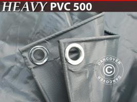 Plane 6x8m PVC 500 g/m² Grau