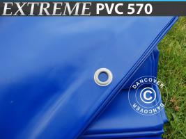Plane 6x8m PVC 570 g/m² Blau