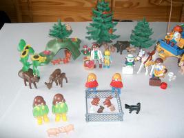 Playmobil, Mama, Baby, Hund, Katze, Maus, Pferd, Ente