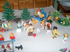 Foto 2 Playmobil, Mama, Baby, Hund, Katze, Maus, Pferd, Ente