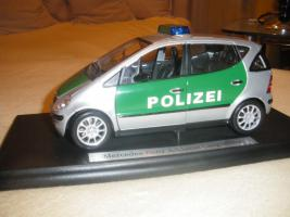 Polizei-Modellauto-Mercedes A Klasse Langversion