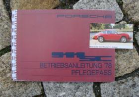 Porsche 911 3.0 SC Betriebsanleitung 1978