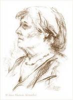 Foto 2 Portraitzeichnungen in Bleistift, Farbe...