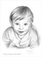 Foto 4 Portraitzeichnungen in Bleistift, Farbe...